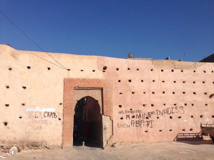最近見つけたmarrakech旧市街のBAB(by courtesy of Y.O.)