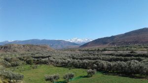 アトラス山脈がきれいにみえるカフェ