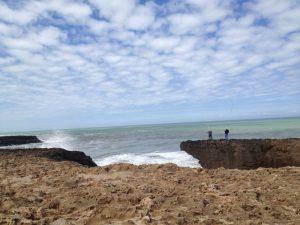 モロッコ首都Rabatの海