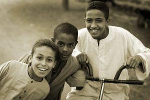 モロッコ人子供の笑顔