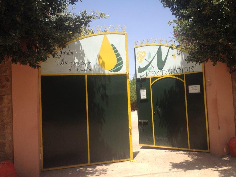ネクタロームのマラケシュ近郊ウリカにあるラボの正門
