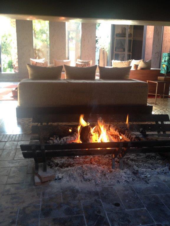 暖炉の炎が最高に心地よい