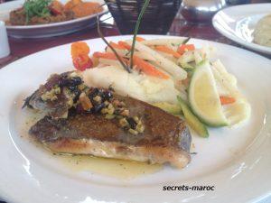 Un déjeuner a Marrakechお薦めメニューは魚
