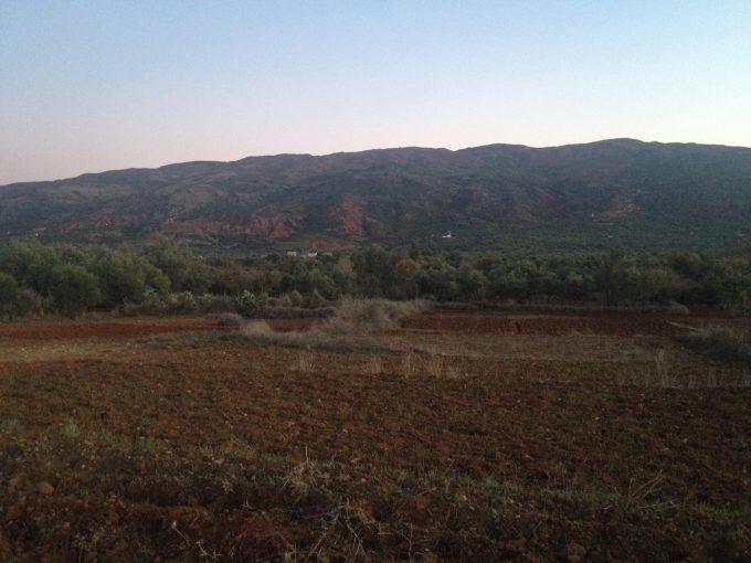 モロッコ田舎の冬の景色