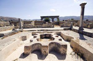 モロッコの超おすすめローマ領時代遺跡Volubilisの公衆風呂跡