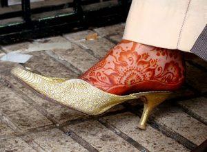 henna tattoo on foot