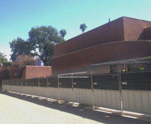 建物はほぼ完成、サンローラン美術館(今秋オープン予定)