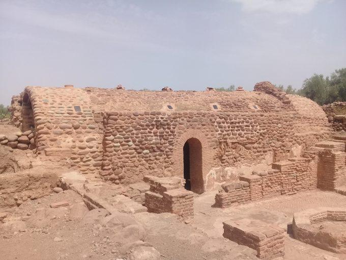 Aghmat遺跡のハマム(11世紀)、温度毎に3つの棟があります、テルマエです!
