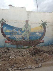 Estevanicoまたの名をMustafa Zemmouriの壁画