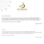 nectarome holiday notice夏休みのお知らせ2019年8月